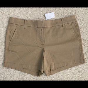"J. Crew 5"" khaki shorts (NWT)"